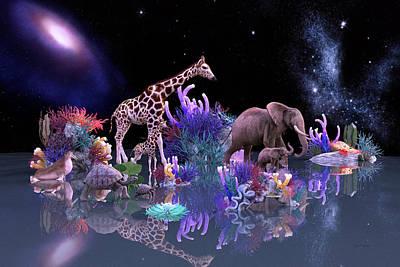 Calf Digital Art - Harmony by Betsy C Knapp