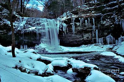 Harrison Wright Falls In Winter Print by Rich Walter