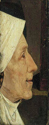 Woman Painting - Head Of An Old Woman by Hieronymus Bosch