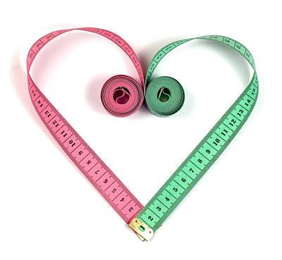 Heart Measuring Tape Print by Boyan Dimitrov