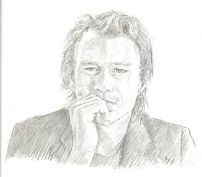 Heath Ledger Drawing - Heath Ledger by Carla  Stroud