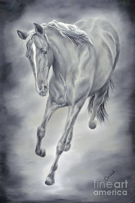 Here She Comes Print by Cathy Cleveland