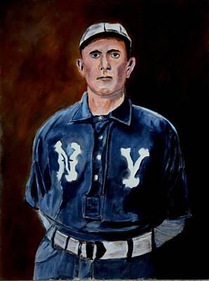 Baseball History Painting - Herman Long by Ralph LeCompte