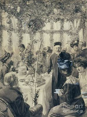 The Torah Painting - High Tea In The Sukkah by Celestial Images
