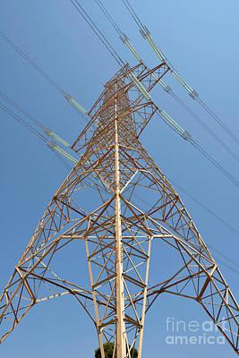 Grid Photograph - High Voltage Pylon by George Atsametakis