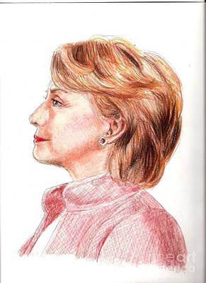 Hillary Clinton Drawing - Hillary by Nancy Anton