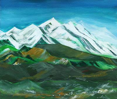 Bob Ross Painting - Himalaya by Anil Nene