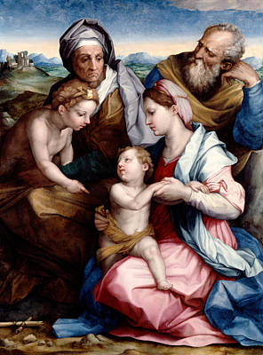 Baptism Painting - Holy Family by Andrea del Sarto
