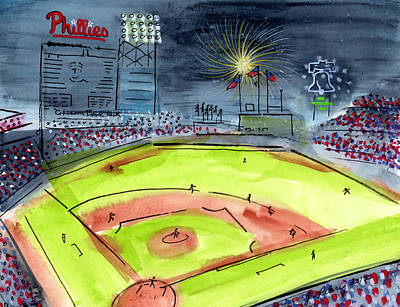 Philly Painting - Home Of The Philadelphia Phillies by Jeanne Rehrig