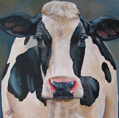Cow Painting - Honey by Laura Carey
