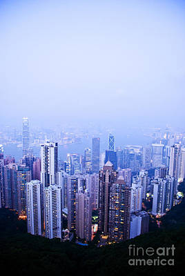 Hong Kong Skyline Print by Ray Laskowitz - Printscapes