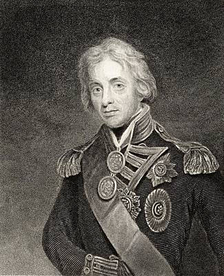 Lord Drawing - Horatio Nelson,viscount Nelson,lord by Vintage Design Pics