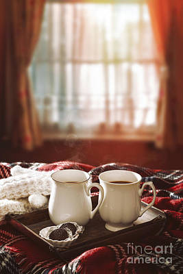 Cabin Window Photograph - Hot Chocolate Drinks by Amanda And Christopher Elwell