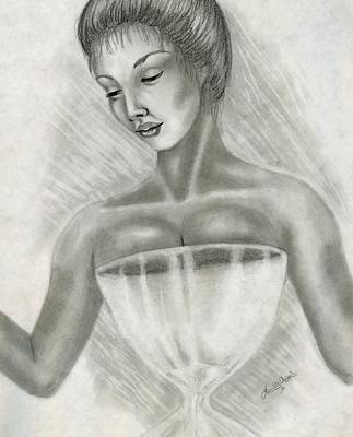 Hourglass Drawing - Hourglass Figure by Scarlett Royal