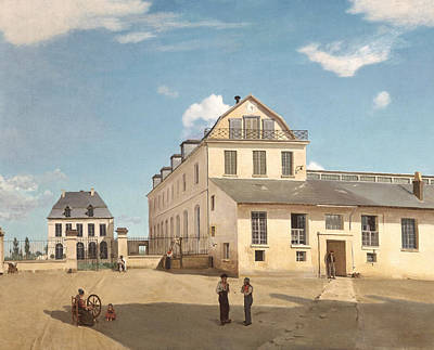 Jean-baptiste Art Painting - House And Factory Of Monsieur Henry by Jean-Baptiste-Camille Corot