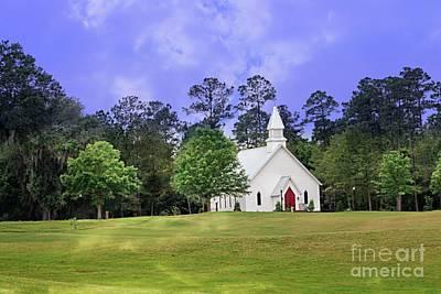 Christian Artwork Digital Art - House Of God by Ella Kaye Dickey