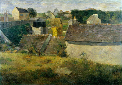 Post-impressionism Painting - Houses At Vaugirard by Paul Gauguin