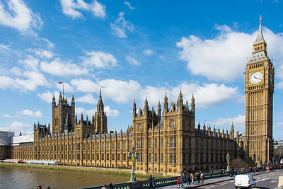 Big Ben Photograph - Houses Of Parliament In London by AMB Fine Art Photography