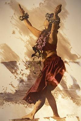 Mixed Media Photograph - Hula On The Beach by Himani - Printscapes