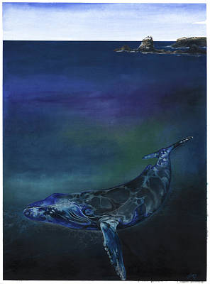 Whale Mixed Media - Humpback Whale by Anthony Burks Sr