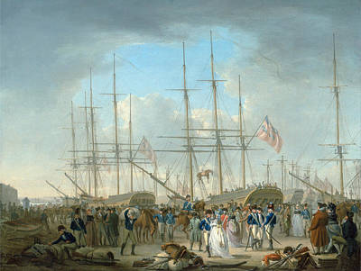 William Anderson Painting - Hussars Embarking At Deptford by William Anderson
