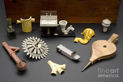 Model Kits Print featuring the photograph Hygienic Sanitary Appliances, 1895 by Wellcome Images