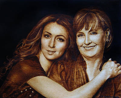 Pyrography - I Love You Mom by Dino Muradian