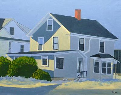 Maine Winter Painting - I Saw The Light by Laurie Breton