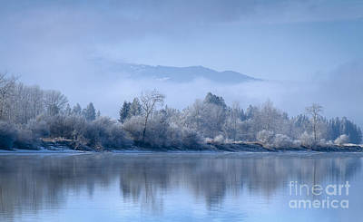 Icy Blue Print by Idaho Scenic Images Linda Lantzy