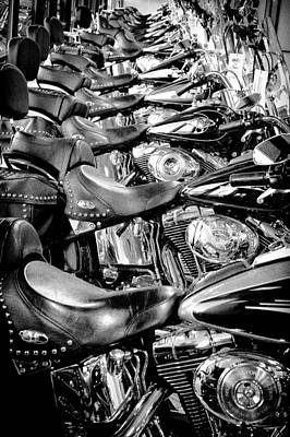 Classic Cycle Photograph - I'll Have A Dozen Harley's To Go Please by David Patterson