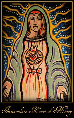 Immaculate Heart Of Mary Original by Melissa Wyatt