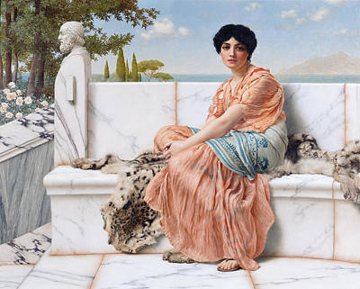 In The Days Of Sappho Print by Celestial Images