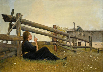 Farm Painting - In The Month Of June by Celestial Images