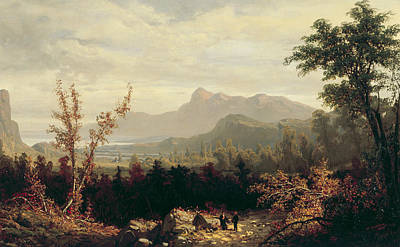 New Hampshire Painting - In The White Mountains, New Hampshire by William Louis Sonntag