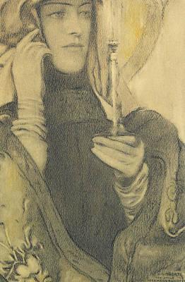 Fernand Khnopff Drawing - Incense by Fernand Khnopff