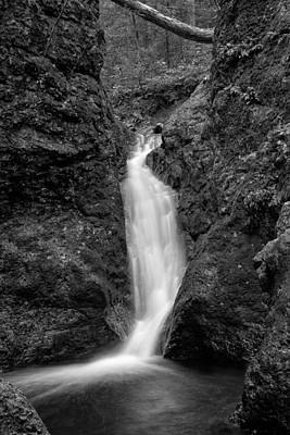 Indian Well Flows Bw Print by Karol Livote