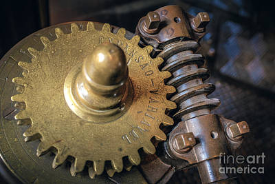 Machinery Photograph - Industrial Gear by Carlos Caetano