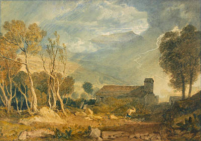 Lightning Painting - Ingleborough From Chapel-le-dale by JMW Turner