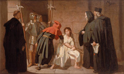 Inquisition Painting - Inquisition by Edouard Moyse