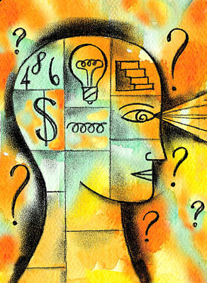 Finance Painting - Knowledge And Idea by Leon Zernitsky