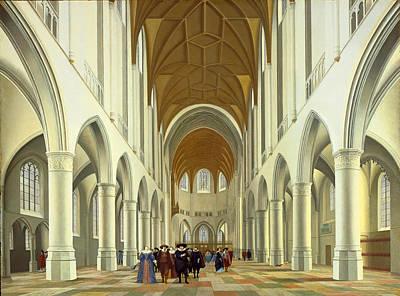 Painting - Interior Of Saint Bavo Haarlem by Pieter Jansz Saenredam