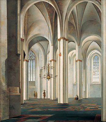 Painting - Interior Of The Buurkerk Utrecht by Pieter Jansz Saenredam