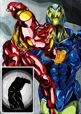 Super Hero Drawings Drawing - Iron Theory by Daniel Clark