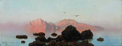 Bird Painting - Island Of Capri by MotionAge Designs