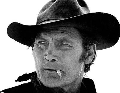 Jack Palance Photograph - Jack Palance Monte Walsh Set Old Tucson Arizona 1968 by David Lee Guss
