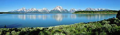 Framed Art Photograph - Jackson Lake Teton Panorama by Greg Norrell