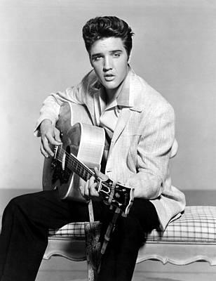 Publicity Shot Photograph - Jailhouse Rock, Elvis Presley, 1957 by Everett