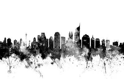 Jakarta Skyline Indonesia Print by Michael Tompsett