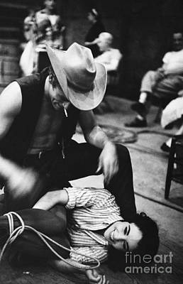Photograph - James Dean And Elizabeth Taylor by Sanford Roth