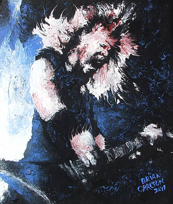 Abstract Realism Painting - James Hetfield by Brian Carlton